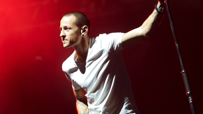 Linkin Park in concert at The O2 Arena, London, Britain - 23 Nov 2014
